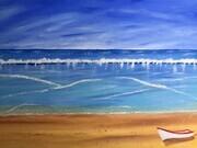 Beach Break 24 x 36 Acrylic sold