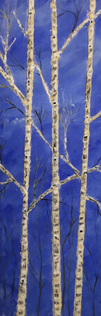 3 D Birch 12 x 36 acrylic sculptured mold $350