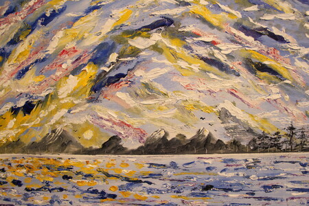 7 + 1 Artscape 16x20 knife painting sold