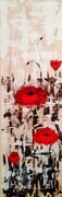 Lest We Forget  12 x 36 acrylic palette knife