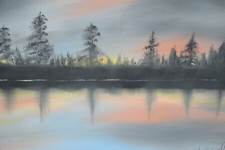 Across the Lake 16 x 20 $200