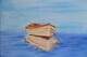 Anchored in the calm water 18 x 24 oil $495