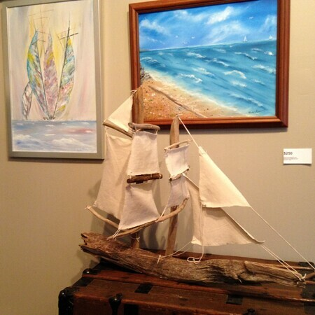 Barquentine driftwood boat    sold