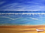 Beach Break 24 x 36 Acrylic sold