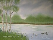 Birches on the waters end 11x14