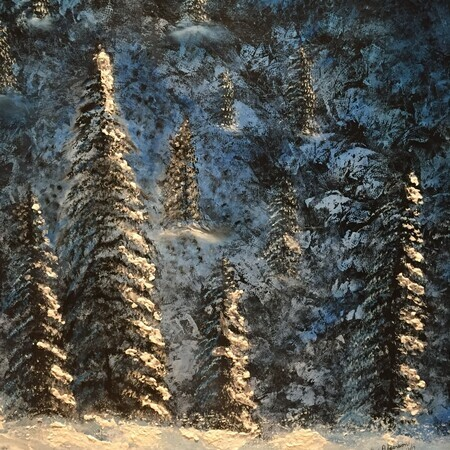Blue Forest 24 x 24 oil $300