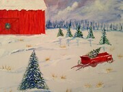 Christmas on the farm 16 x 20 $200