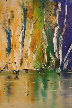 Colourful Sail 18 x 24 oil wrapped canvas $400
