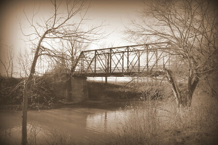 Cut Bridge 16x20 matted print and framed $140