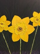 Daffodil mixed 16 x 20 wrapped canvas $175