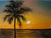 Evening Palms 11 x 14 sold