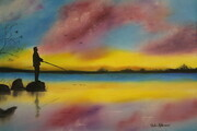 Evening fisherman 18 x 24 wrapped canvas $225