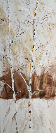 First snow Birch 12 x 36 $275