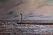 Grand Bend South beach 32 x 48 on wood $1100