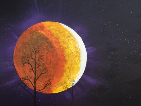 Late Harvest Moon 16 x 20 acrylic $175