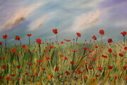 Lest we Forget 24 x 36 oil  with putty knife wrapped canvas $600