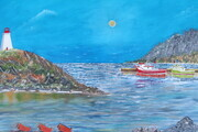 Newfoundland 24 x 36 mixed media $800 f