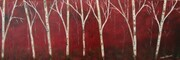 Red Forest Birch 12 x 36 Acrylic $275