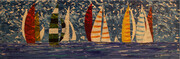 Sailing Regatta 12 x 36 acrylic sold