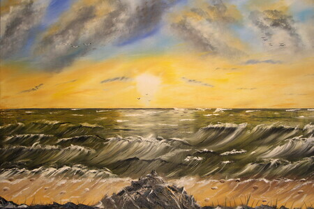 Rough Water 24 x 36 oil $275