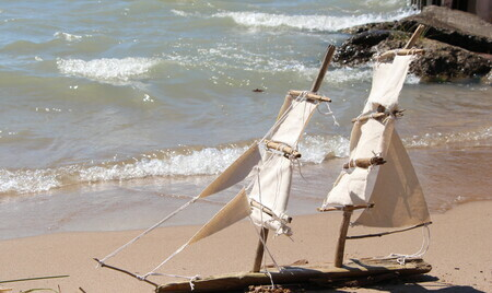 Sailboat on Grand Bend beach $200
