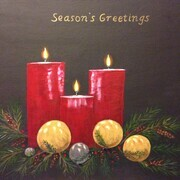 Season's Greetings 16 x 20 acylic h $250