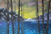 Snow capped mountains 24 x 36 $350