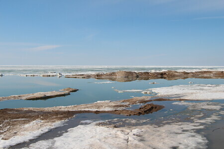 Spring Beach in Grand Bend