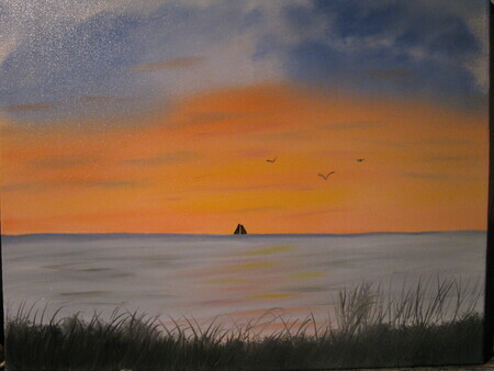 Sunset Lake Huron  16 x 20 $175