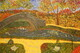 The Park  16 x 20 acrylic Pointillism $200