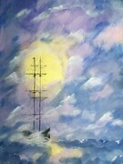 Tall Ship through the Fog          24 x 36 acrylic $375