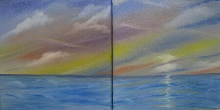 Twin Canvas 2-12 x 12 $200