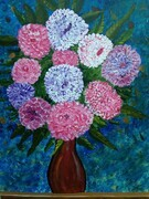 Vase of cup cake flowers   24 x 36 mixed $450