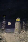 Winter Lighthouse 11 x 14 oil $200