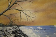 Winter Shore 16 x 20 $225
