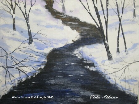 Winter Stream 11 x 14 $150