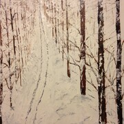 Winter Trail 24 x 24 acrylic $250