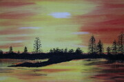 Yellow sunset 16 x 20 sold